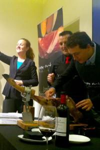 Taller cata corta de jamón ibérico maridado con vino